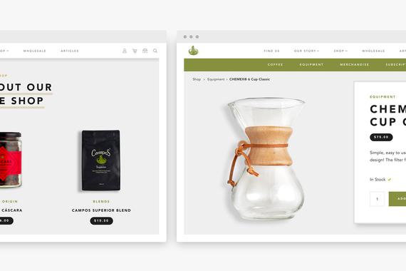 Campos Coffee eCommerce Website