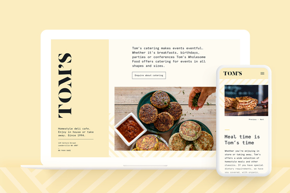 Tom's Wholesome Food Website