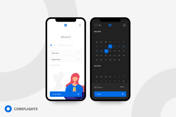 Coreflights - Flight Search Application