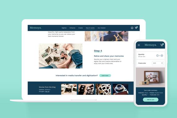 Memoya eCommerce Website