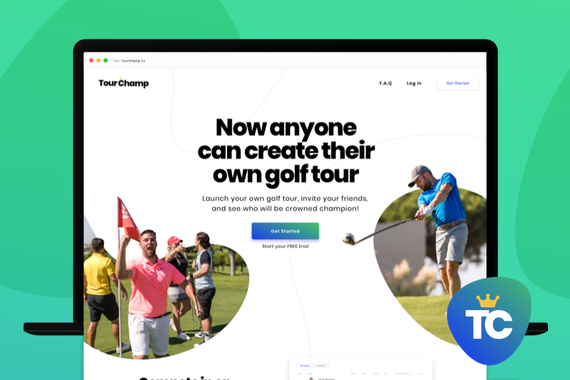 Web Design & Branding for Golf Startup