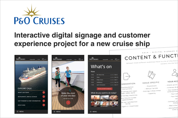 P&O Cruises – Interactive Customer Experience Project