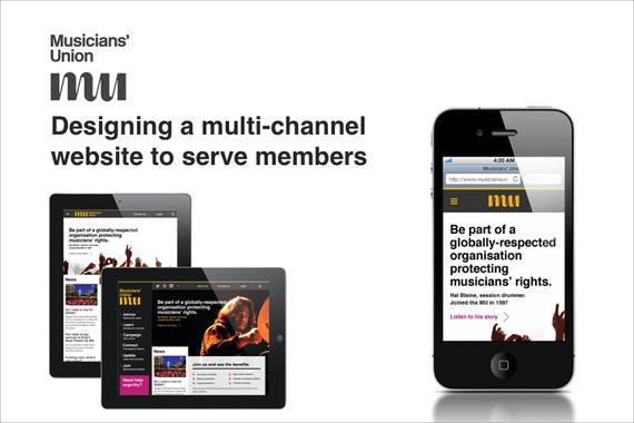 Musicians' Union – Digital Master Plan and Multichannel Website