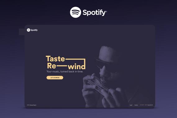Spotify – Taste Rewind Website