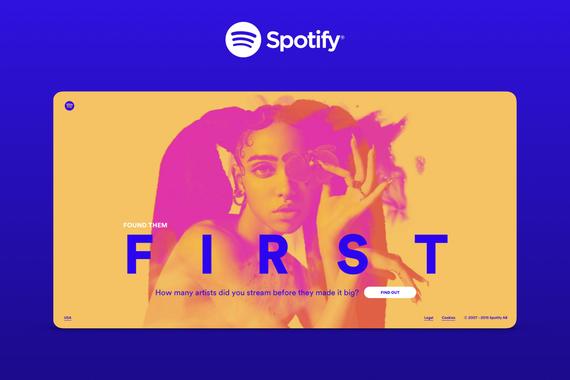 Spotify – Found Them First Website