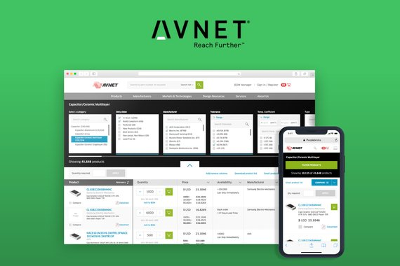 Avnet - Responsive Manufacturing Parametric Search Engine