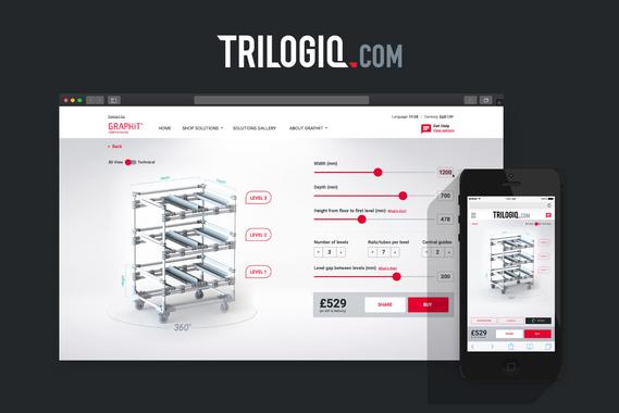 Trilogiq Website - Responsive 3D Configurator Commerce Experience