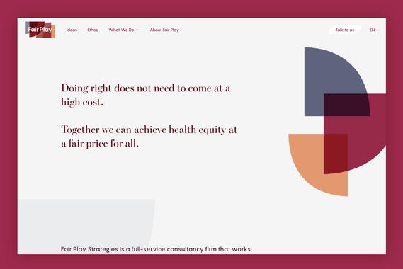 Fair Play | Nonprofit Website