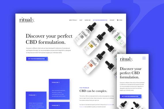 Ritualx - UX, eCommerce Web Design, and WordPress Build