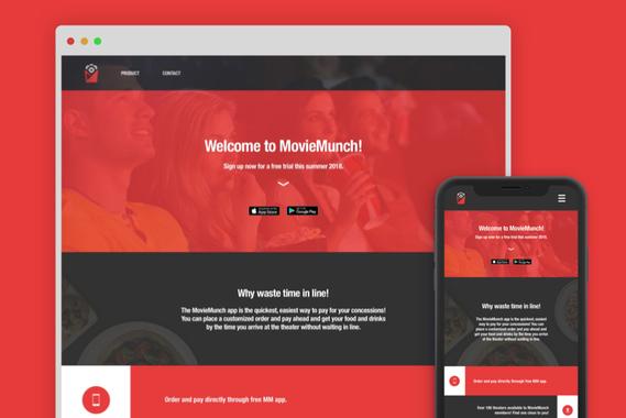 MovieMunch Branding, Promo Animation, and Website Visuals
