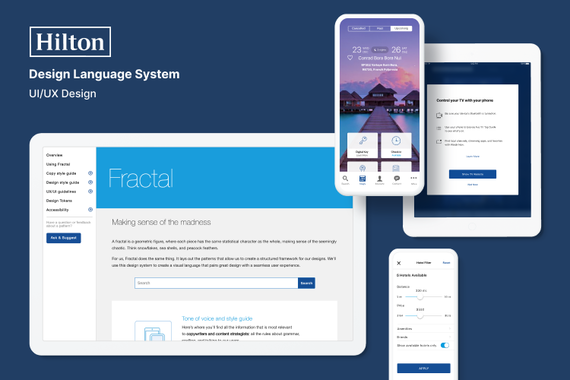 Hilton – Fractal iOS + Android Design