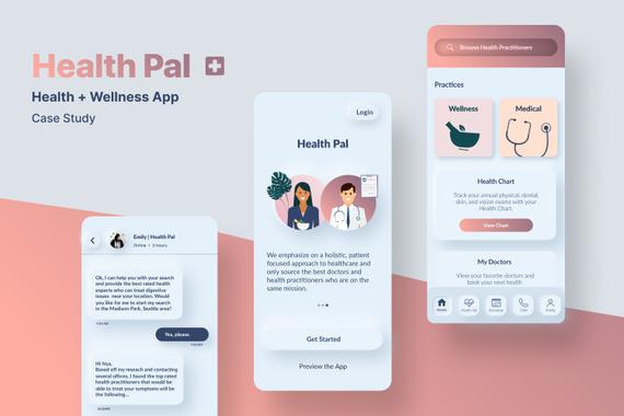 Health Pal – iOS App Design