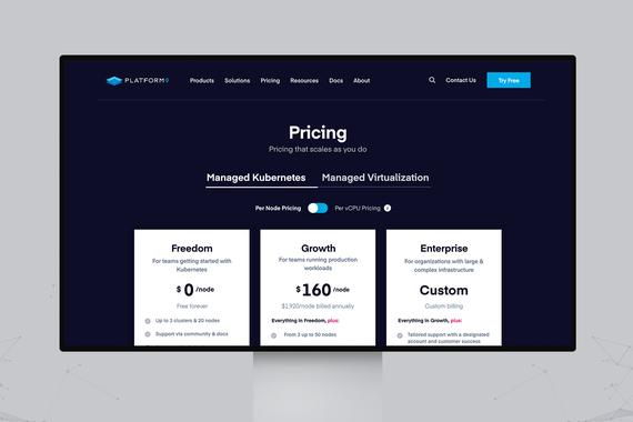 Platform9⎜B2B Website Redesign