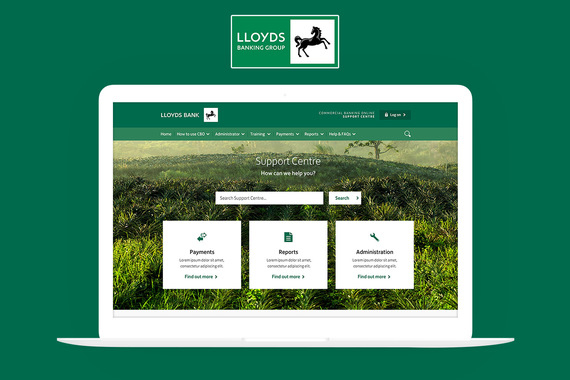 Lloyds Banking Group   Standalone Support website