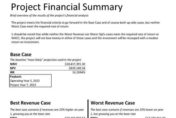 Project Finance Analysis