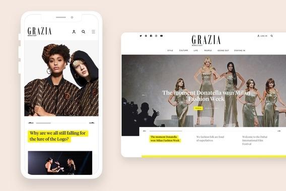 Grazia: News and Blog Website