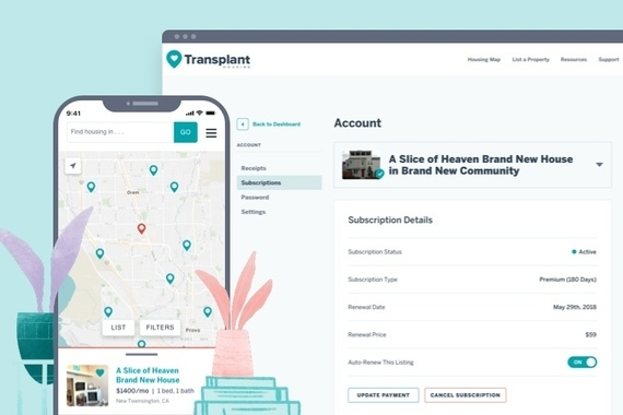 Transplant Housing Web App