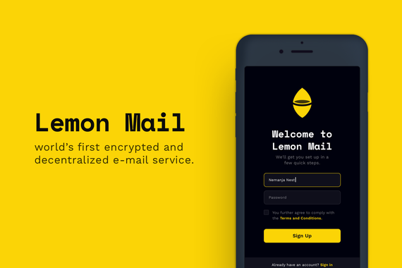 LemonMail | World's First Encrypted and Decentralized Email Service