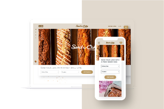 Send a Cake – eCommerce Website, Brand Identity, and Campaign Landing Page