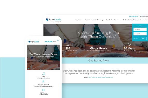 ExpoCredit – Web and Responsive Mobile Design, Brand Identity