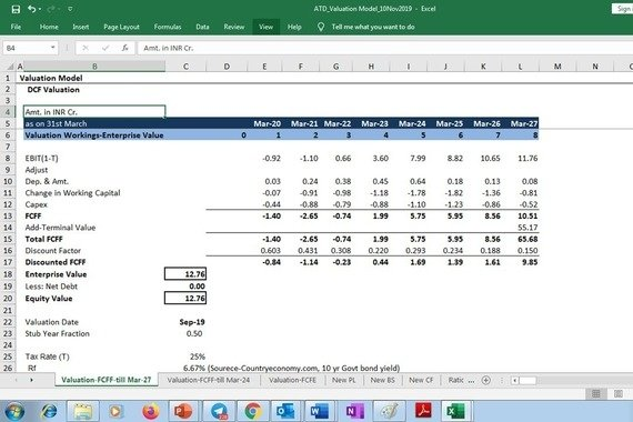 DCF Valuation of a Food and Agri Startup for a Venture Capital Investment in Food