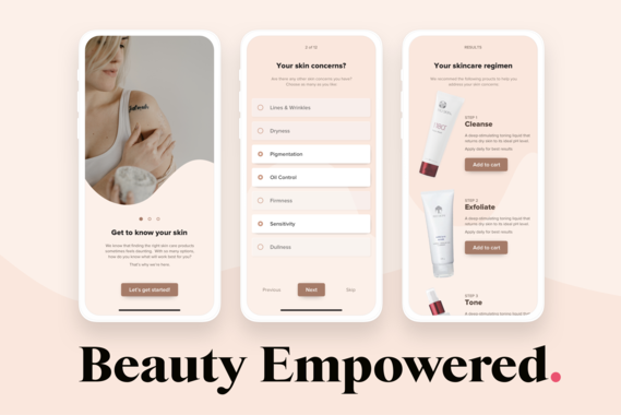 Skincare Products Just for You | Web App