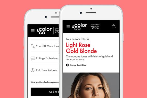 L'Oréal  :  Custom Hair Color Subscription Site