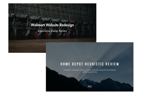 Research | Walmart Website Redesign and Home Depot Heuristic Review