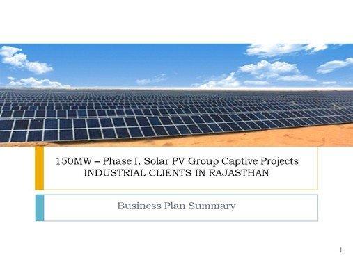 Information Memorandum for a Solar EPC Company VC Fundraise