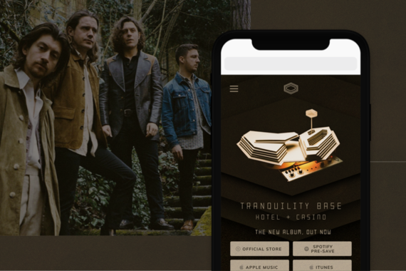 Arctic Monkeys: Website Design