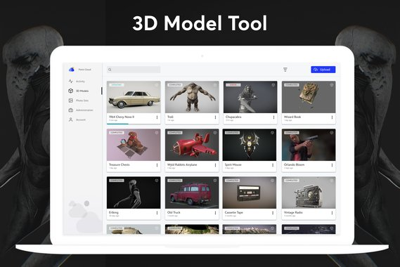 Enterprise Web App - 3D Models