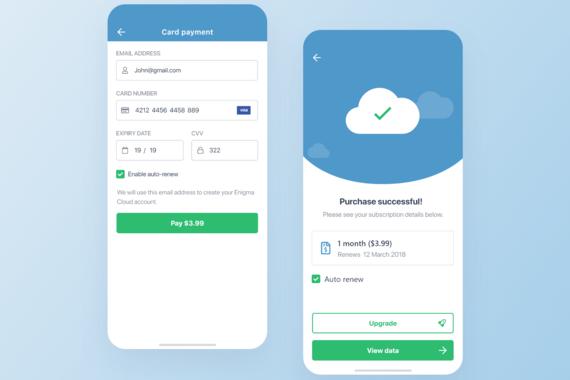Enigma Cloud Mobile Web App