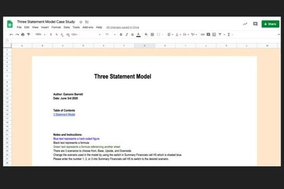 Integrated Three-statement Model Forecasting