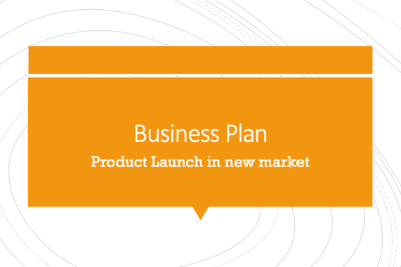 Business Plan - Product Launch in new market