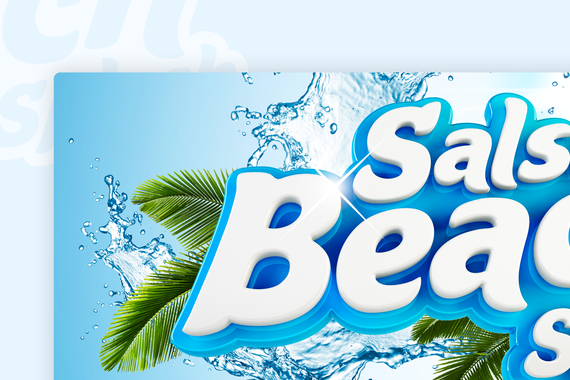 Salsa Beach Splash Festival Branding and Logo