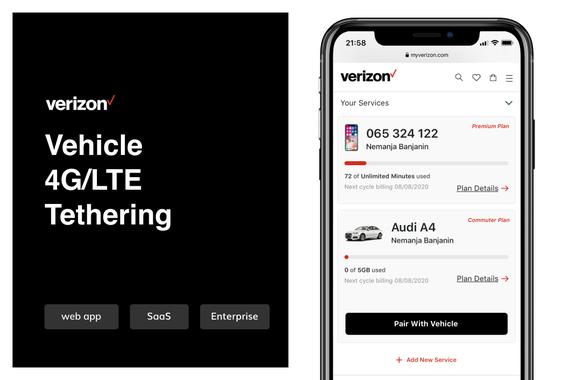 Verizon Vehicle 4G/LTE Tethering