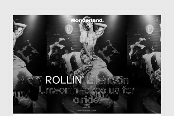 Wonderland | Editorial Platform for a Fashion Magazine