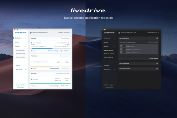 Native Desktop Application | Livedrive Cloud Storage