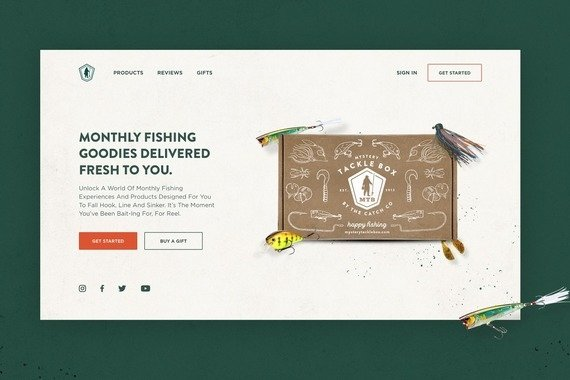 Mystery Tackle Box ⎜Website Redesign