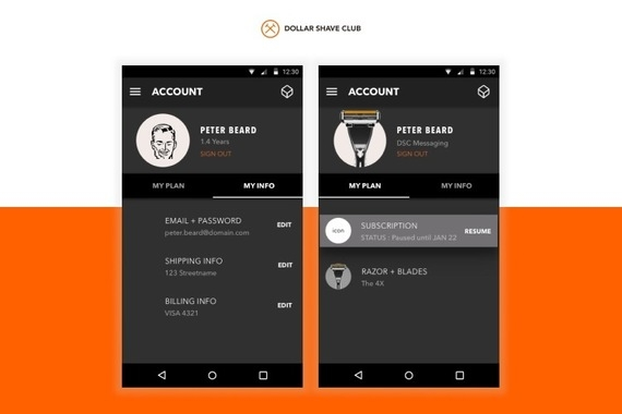 Dollar Shave Club : Member App for iOS & Android