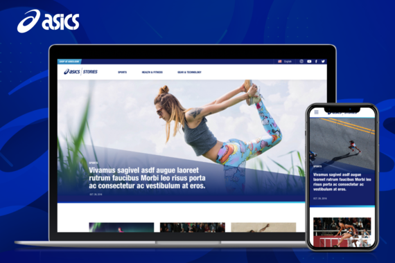 Asics Stories Blog Design and Information Architecture
