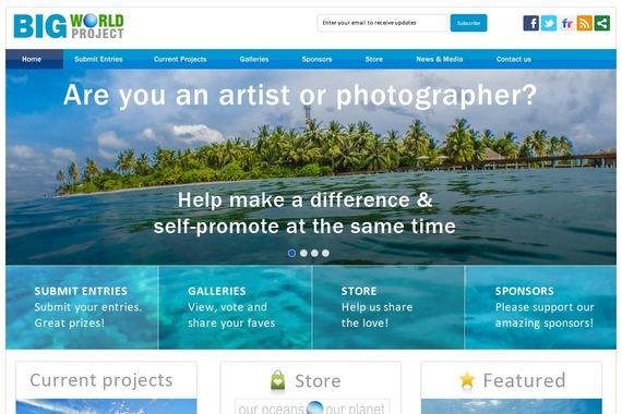 Big World Project Website Design