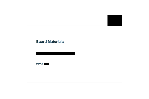 Cloud & SaaS PE/VC-backed Company Board Deck [Redacted]