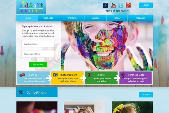 Kids Art Online Website Project