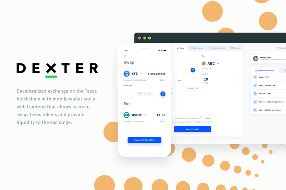Dexter and smart wallet mobile app