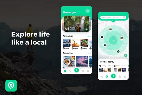 Social Travel App UI and UX