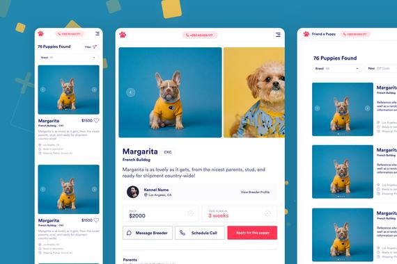 Friendapuppy - Pet Marketplace (via Toptal)
