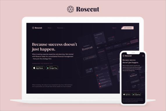 Rosecut | Fintech Landing Page Redesign