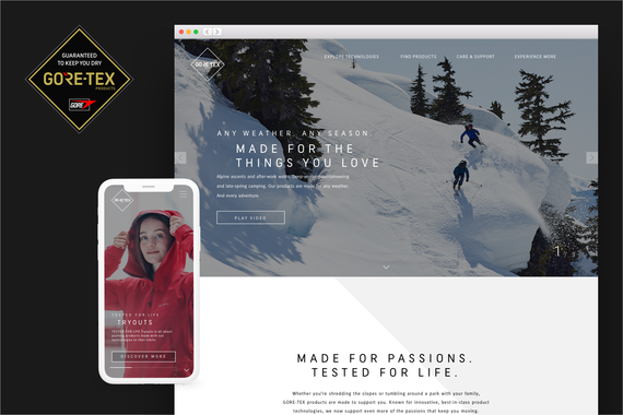 GORE-TEX | Global eCommerce Redesign