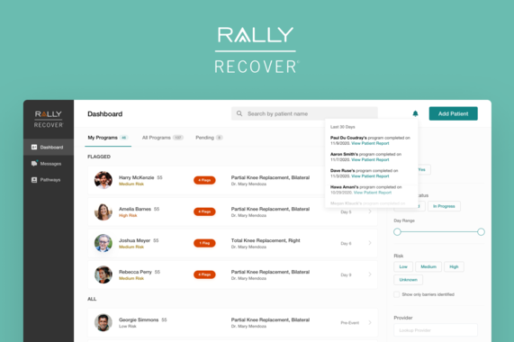 Patient Recovery Web App for Surgeons